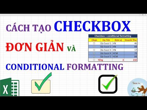 Cách tạo checkbox đơn giản kết hợp conditional formatting trong excel