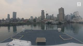 Real-time SeaBus ride from Lonsdale Quay to Waterfront and back Medium (360p)