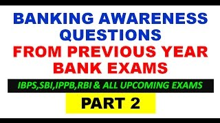 banking awareness questions from previous year bank exams part 2