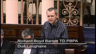 Richard Boyd Barrett challenges Taoiseach on Property Tax Amendments