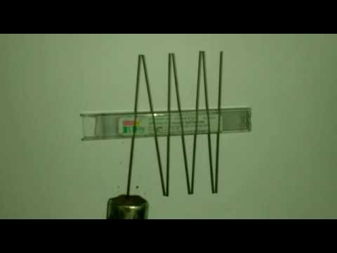 My  experiment for a force by electro magnetic fields.
