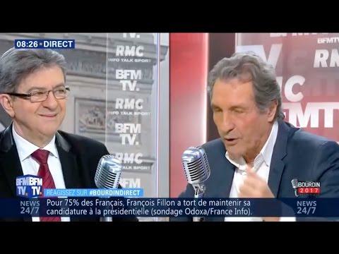 «VOTEZ, DÉGAGEZ-LES TOUS» - MÉLENCHON CHEZ BOURDIN DIRECT