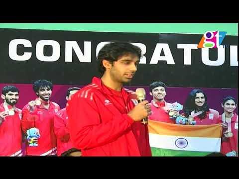 Badminton stars honoured | Gopichand| p.v sindhu | Gopichand Academy | Great Telangana TV