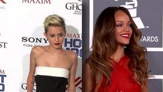 Rihanna est d'accord pour embrasser Miley Cyrus