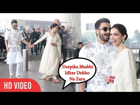 Media Shouts Deepika As BHABHI 😂😍😂 | Ranveer And Deepika Padukone At Mumbai Airport