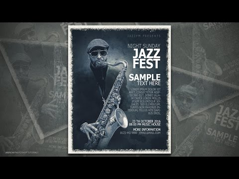 Photoshop Tutorial - Jazz Fest Poster