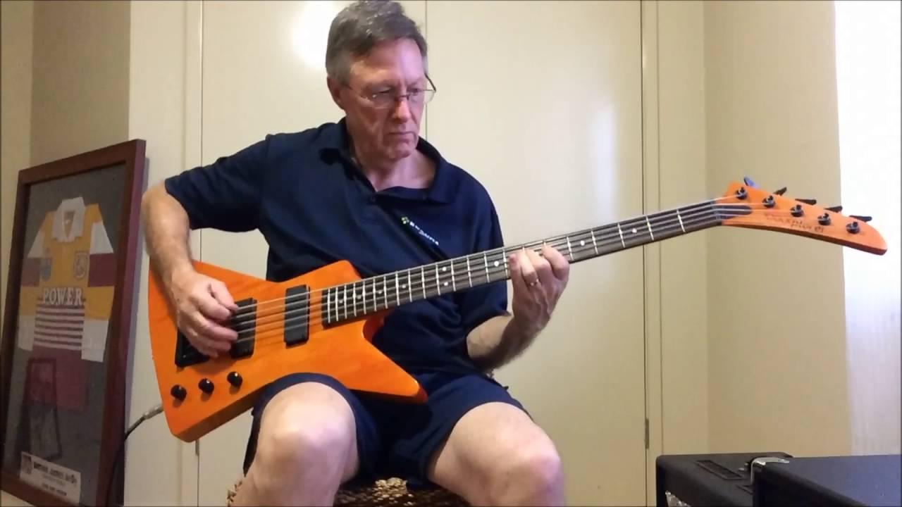 explorer 5 string bass demo youtube