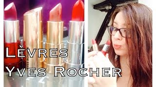 Les rouges à lèvres de chez Yves Rocher (+ swatches)