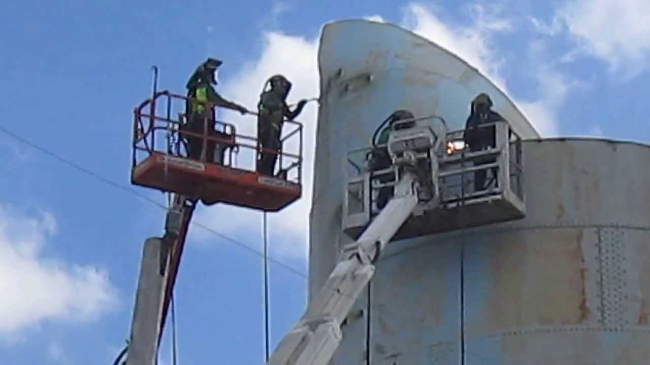 Water Tower Demolition 2013 : Ocnj water tower demolition welders youtube