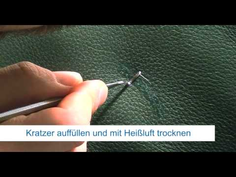 repair concepts kratzerreparatur an leder youtube. Black Bedroom Furniture Sets. Home Design Ideas