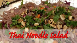 Cold Thai Noodle Salad With Cilantro Lime Dressing - Vegan, Rawtill4, Potluck