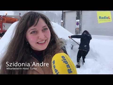 Grosse Schneeräumung in Liechtenstein