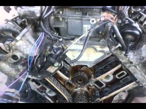 MERCEDES BENZ V6, V8 TIMING CHAIN MARKS - YouTube