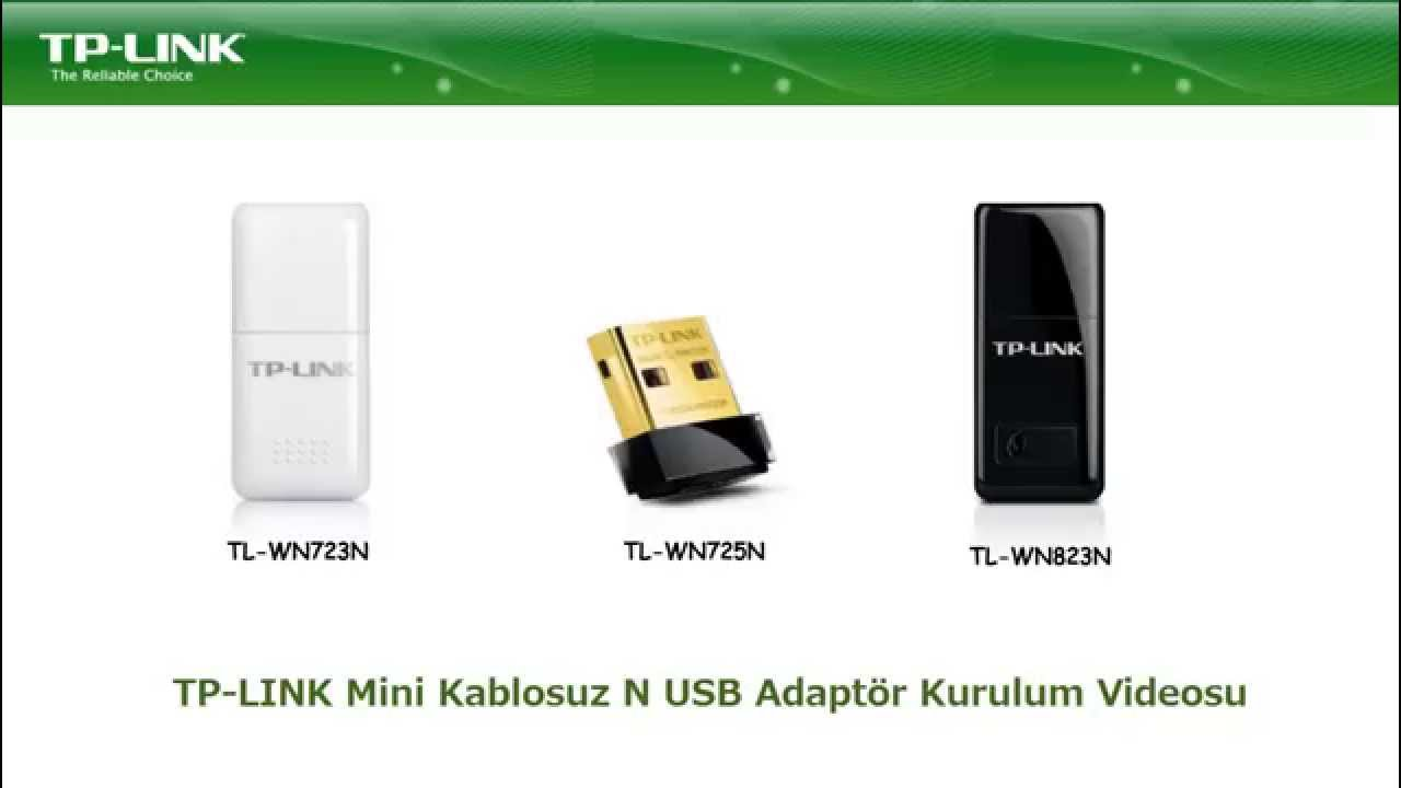Tp Link Kablosuz 24ghz Usb Adaptr Kurulum Videosu 1 Youtube Wifi Wn723n