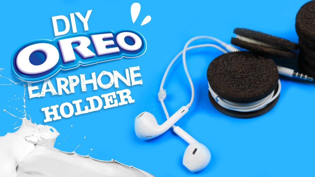 Diy Oreo Earphone Holder Tutorial Life Hack Youtube