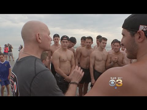 Flyers Prospects, Fans Take To The Sand And Surf