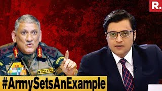 General Bipin Rawat Shuts Up Critics Of Indian Army | The Debate With Arnab Goswami