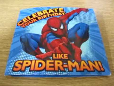 spiderman birthday card, Birthday card