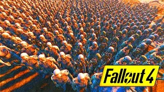 25 PALADIN DANSE vs INSTITUTE ARMY - FALLOUT 4 BATTLE