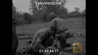 175TH INF, 2ND BN, 29TH DIV, ST. LO FRANCE; 1ST ARMY ORDNANCE COLLECTION DEPOT  - LMWWIIHD398