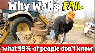 WHY Retaining Walls FALL down - How Most people Build them Wrong