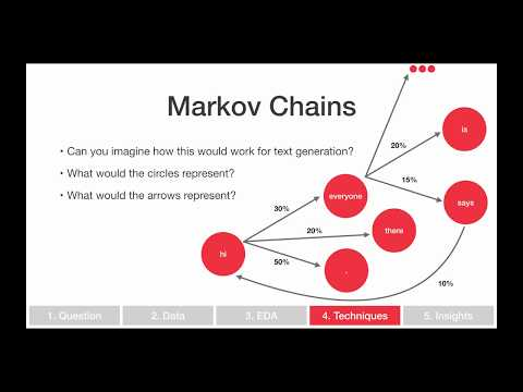Natural Language Processing (Part 6): Text Generation with Markov Chains in Python