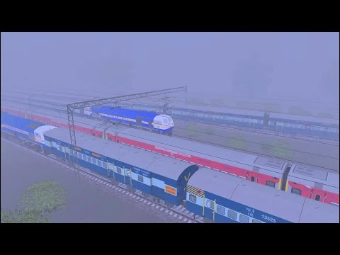 Fog & Gorakhdham Superfast Express in MSTS Open Rails by Sumit Mehrotra