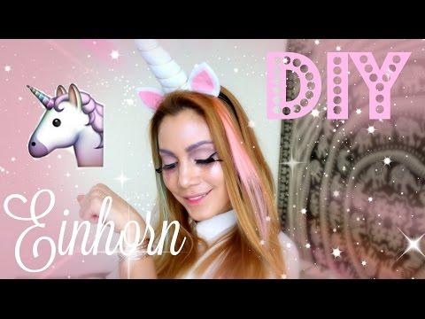 Glitter Einhorn Make-up & Kostüm DIY - Karneval / Fasching | funnypilgrim