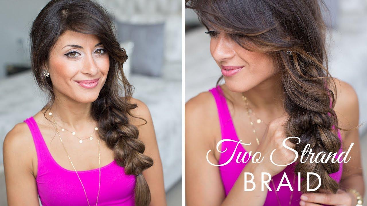pull-through braid / two strand braid hairstyle