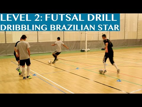 Futsal Training Drill Level 2 Dribbling Brazilian Star Youtube