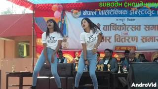 Cartoonz crew best dance in chitwan Nepal by two top girls of medical college
