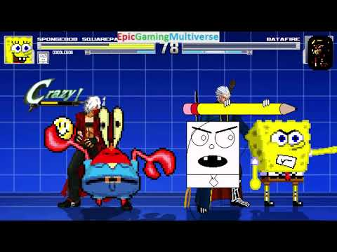 Devil May Cry Characters And DoodleBob And SpongeBob VS Batafire In A MUGEN Match / Battle / Fight
