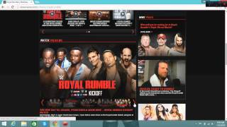 Royal Rumble Predictions and WWE SuperCard Update 1-25-15