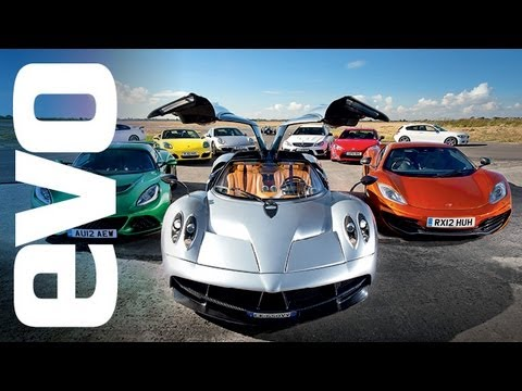 evo Car of the Year 2012 - feat. Pagani Huayra v McLaren and more. In association with Michelin.
