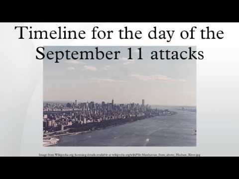 Timeline for the day of the September 11 attacks