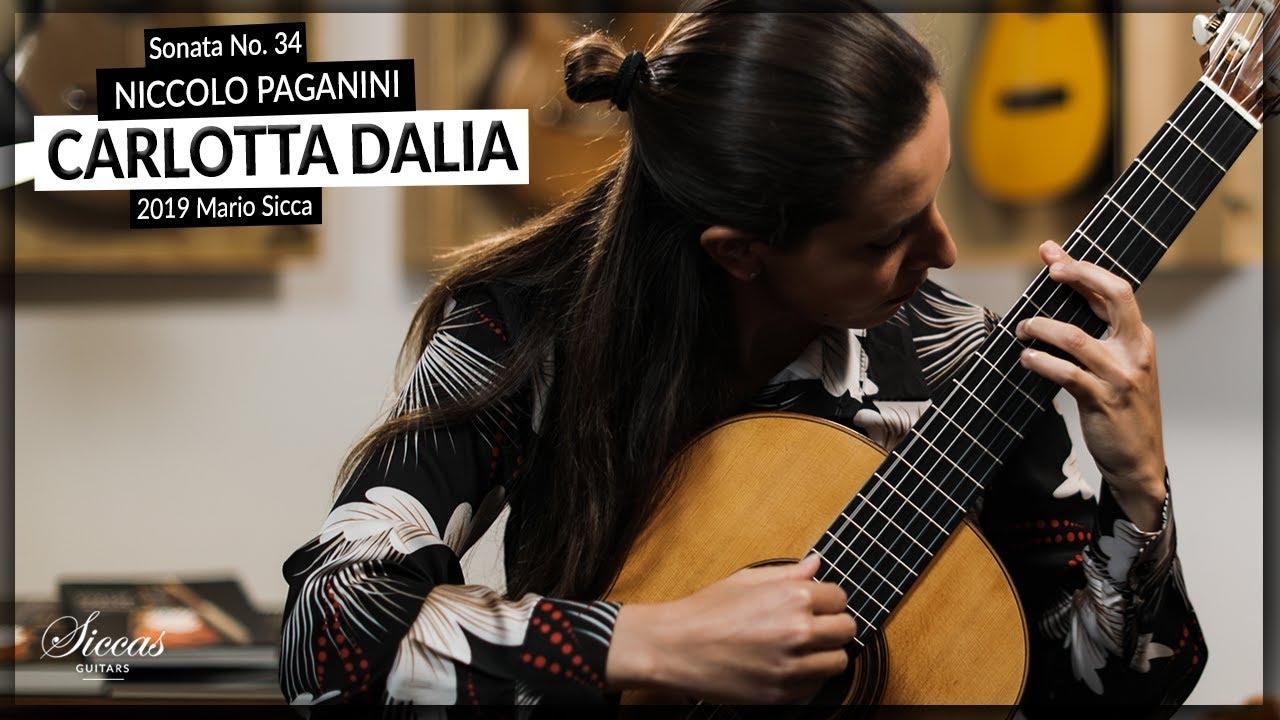 Download Carlotta Dalia plays Sonata No. 34 by Niccolo Paganini on a 2019 Mario Sicca   Siccas Guitars