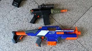 ปืนเนิร์ฟไฟฟ้า Rapid Strike ปะทะปืนไฟฟ้าออบี้ Electric NERF VS. Electric ORBEEZ