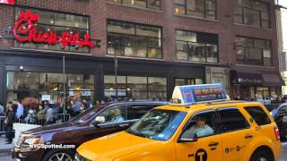 Chick-Fil-A Opening Midtown NY 6th Ave 37th St - New Yorkers Go Crazy for Chicken  #NYCCFA