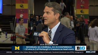 Michigan Coach Jim Harbaugh on Changes for 2019 | 2019 B1G Football Media Days