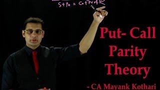 CA Final SFM- Put Call Parity Theory by CA Mayank Kothari