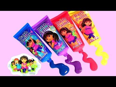 Bombas de Banho Dora a Aventureira - Learn Colors with Kids Bath Paint Dora the Explorer Bath Bombs