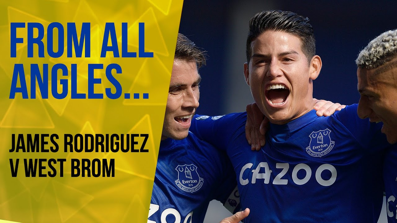JAMES RODRIGUEZ'S FIRST EVERTON GOAL!   FROM ALL ANGLES