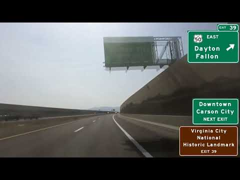 Interstate 580/U.S. 395 Southbound Through Carson City, Nevada
