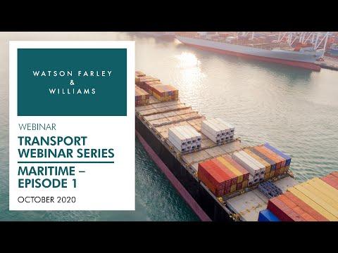 Transport Webinar Series – Maritime | Episode 1