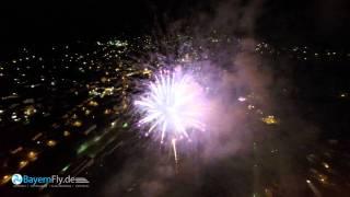 Viechtach Volksfest Feuerwerk Luftaufnahme 2015