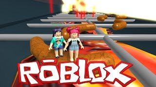 roblox   escape the giant hamburger   vegetarian nightmare with salems lady   amy lee33