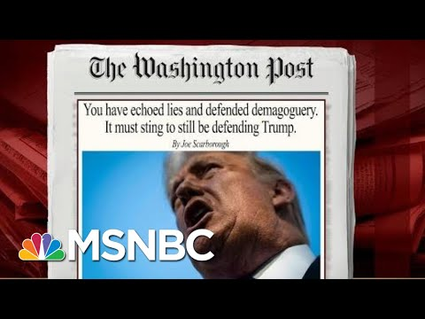 You Have Echoed Lies & Defended Demagoguery. It Must Sting To Still Be Defending Trump   MSNBC