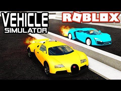 Lykan Hypersport VS Bugatti Veyron in Vehicle Simulator! | Roblox
