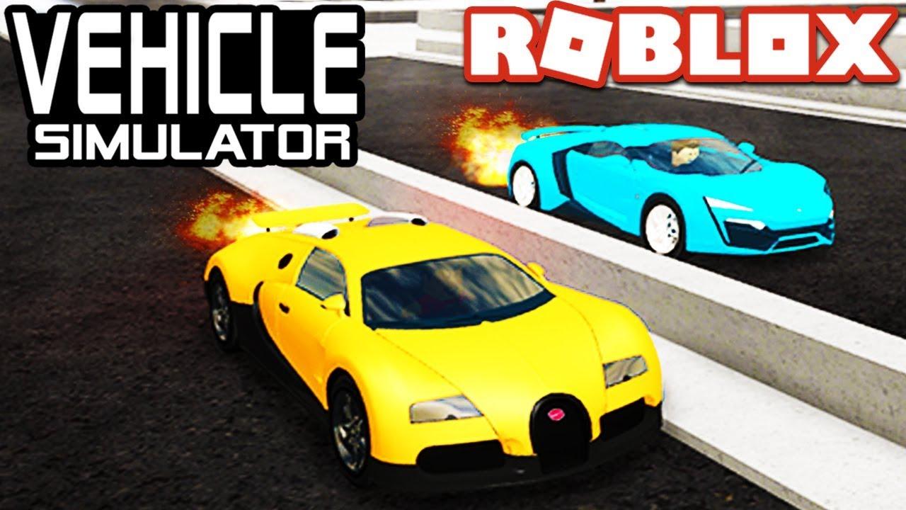 Bugatti Veyron Hypersport lykan hypersport vs bugatti veyron in vehicle simulator! | roblox