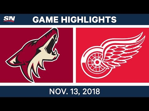 NHL Highlights | Coyotes vs. Red Wings– Nov. 13, 2018